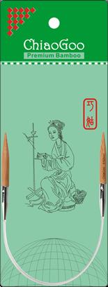 ChiaoGoo Bamboo Circular 16 US 8