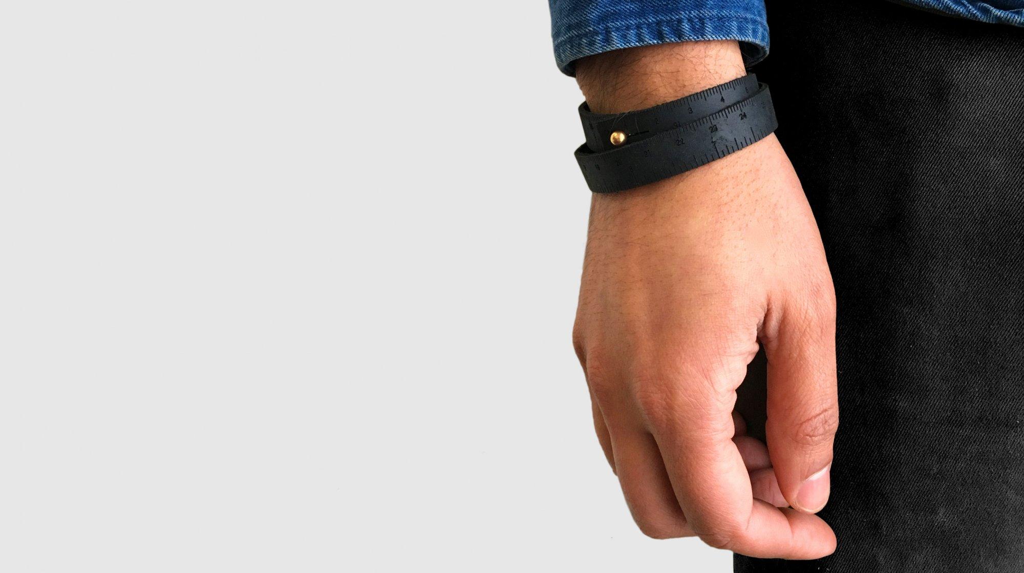 Wrist Ruler Bracelet - Black