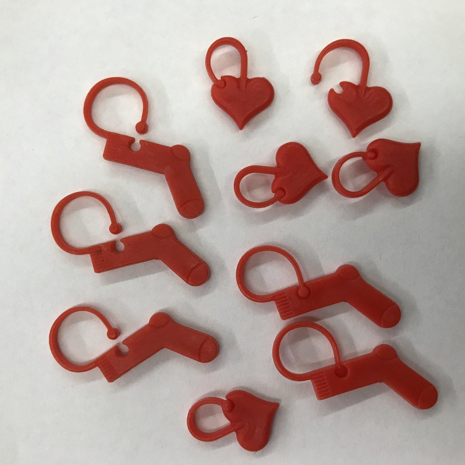 Minnie & Purl Locking Stitch Markers - Mixed 10 ct