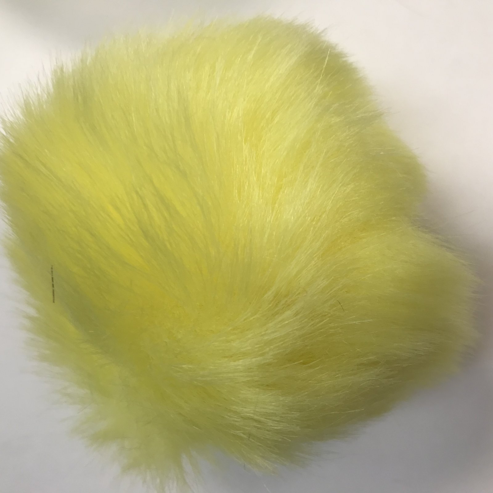 Faux Fur Poms 9 cm - Highlighter Yellow
