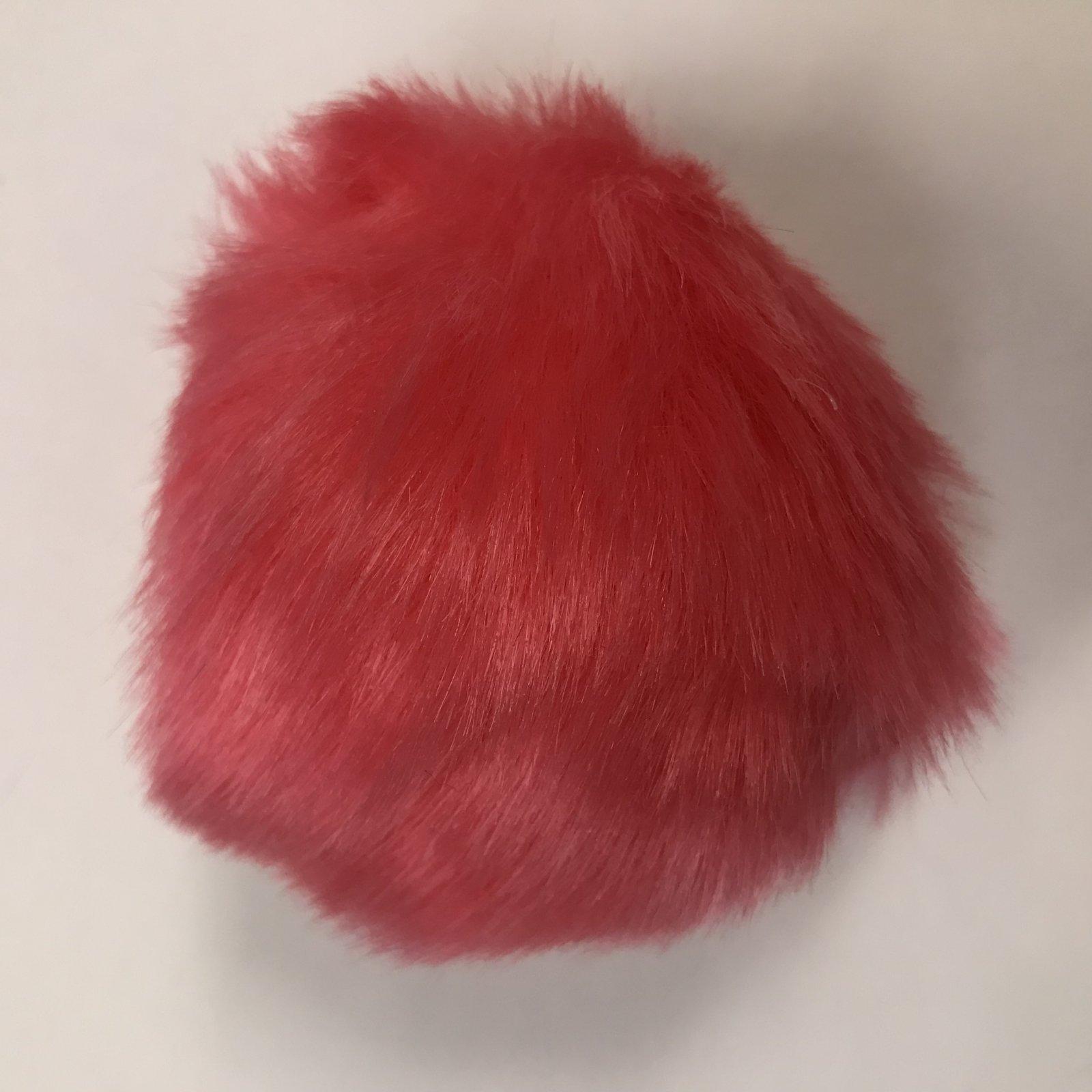 Faux Fur Poms 9 cm - Flamingo Pink