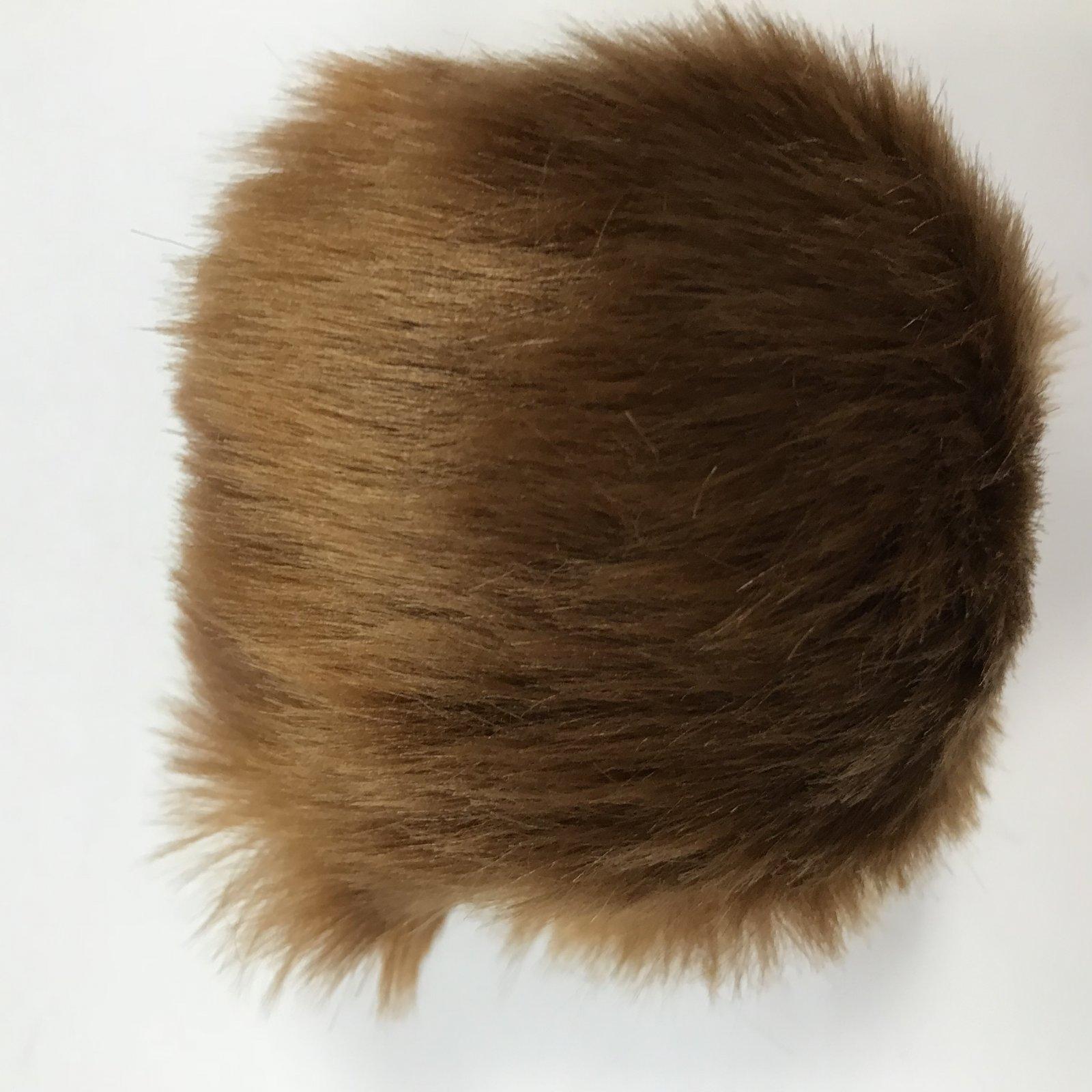 Faux Fur Poms 9 cm - Copper