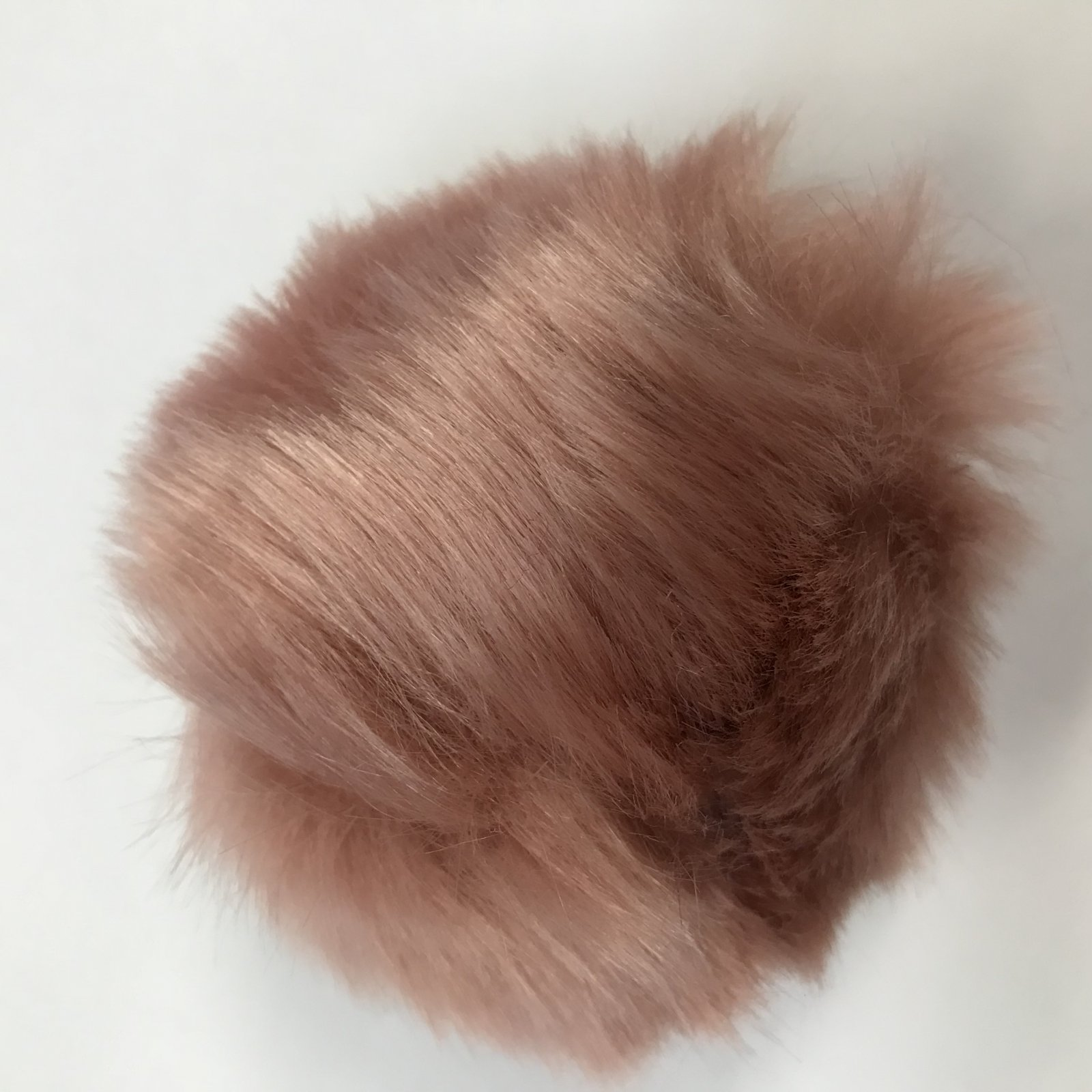 Faux Fur Poms 9 cm - Blush
