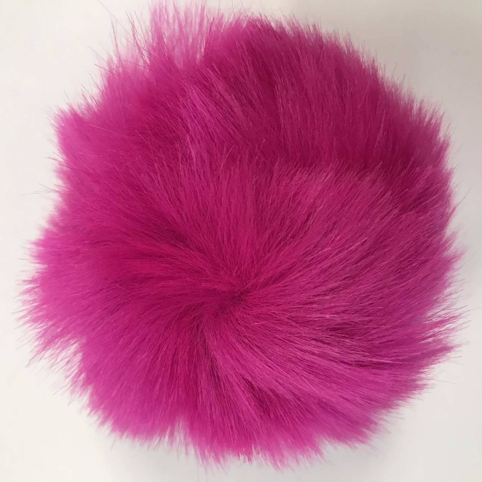 Faux Fur Poms 9 cm - Hot Pink