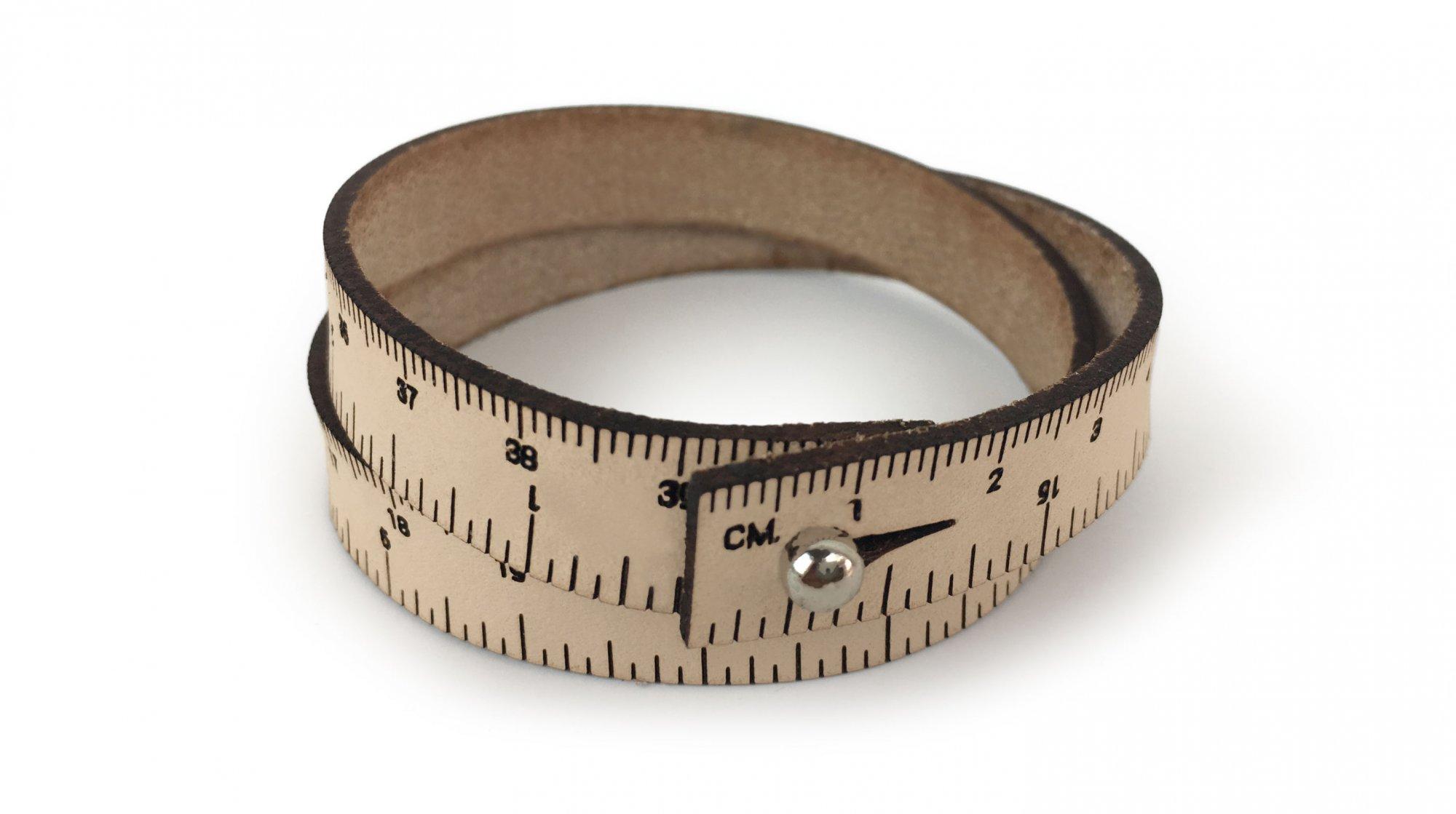 Wrist Ruler Bracelet - Light Pink Metallic