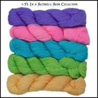 Wonderland Yarns Mini Skein Pack Cheshire Cat - #51 Neons (In A Nutshell)