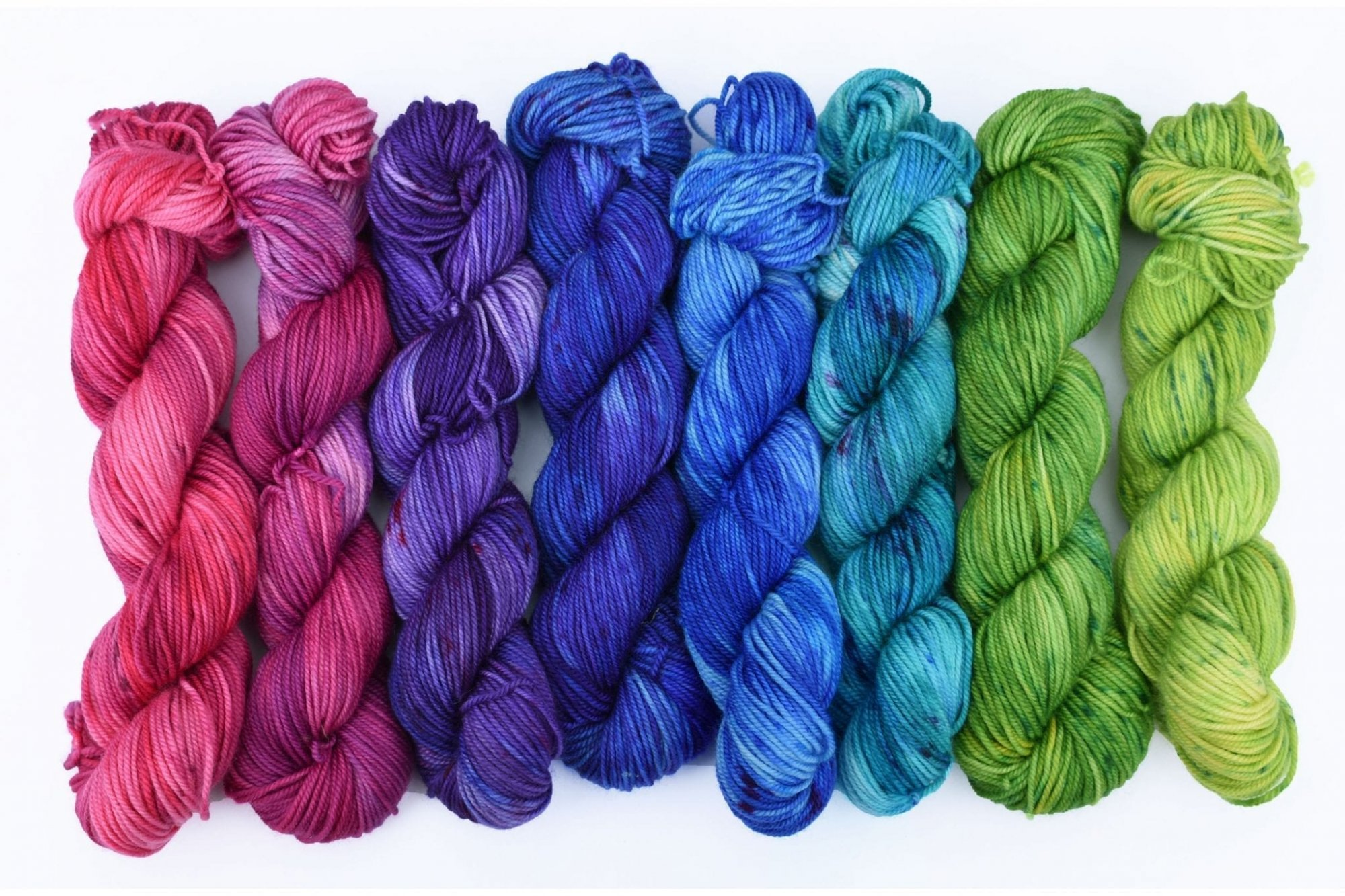 Wonderland Yarns - Mary Ann Mini Skein 8 Packs #85 One Way & Another