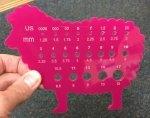 Bryson Sheep Gauge Pink Acrylic