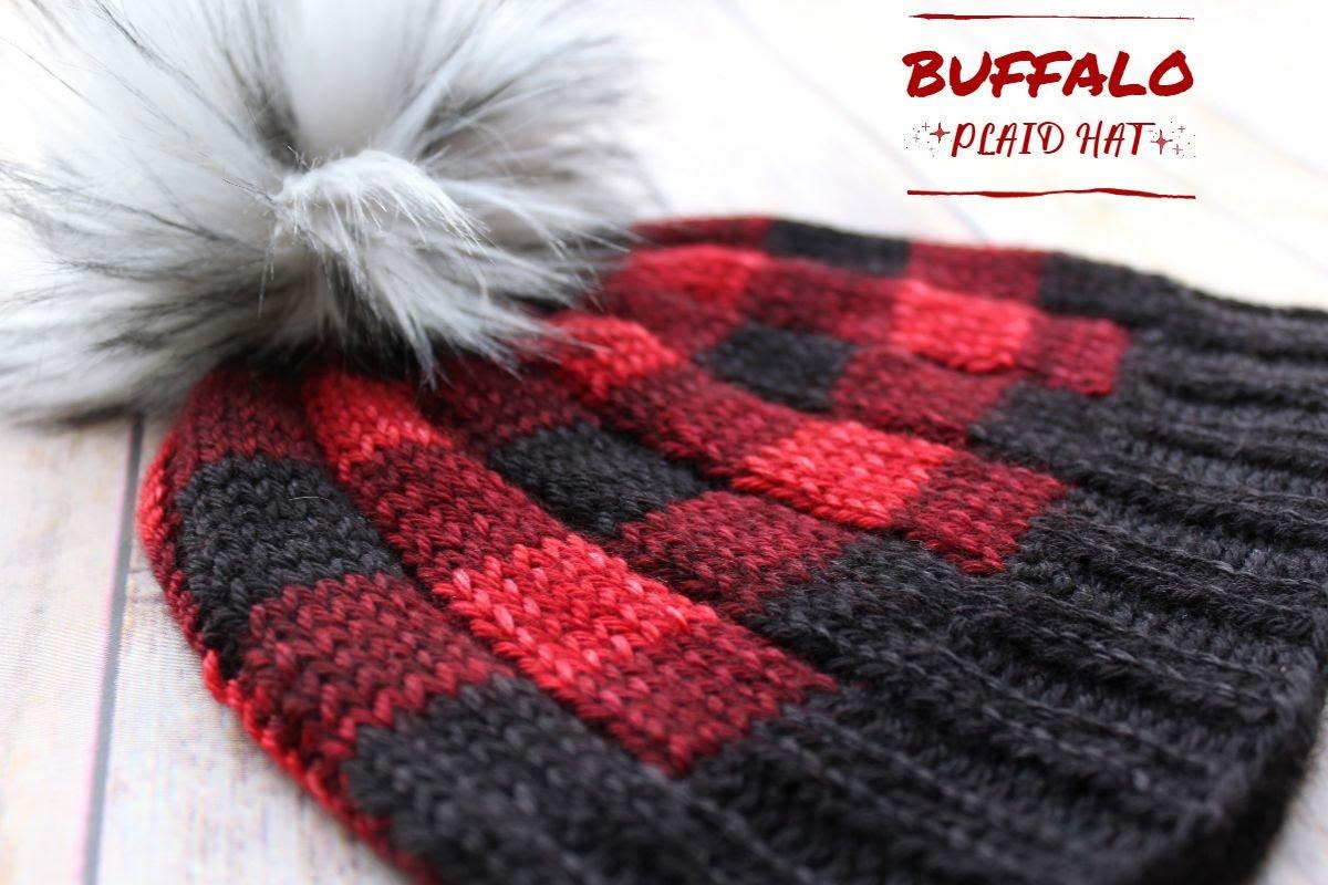 Brew City Yarns Buffalo Plaid Hat Kit - PreOrder