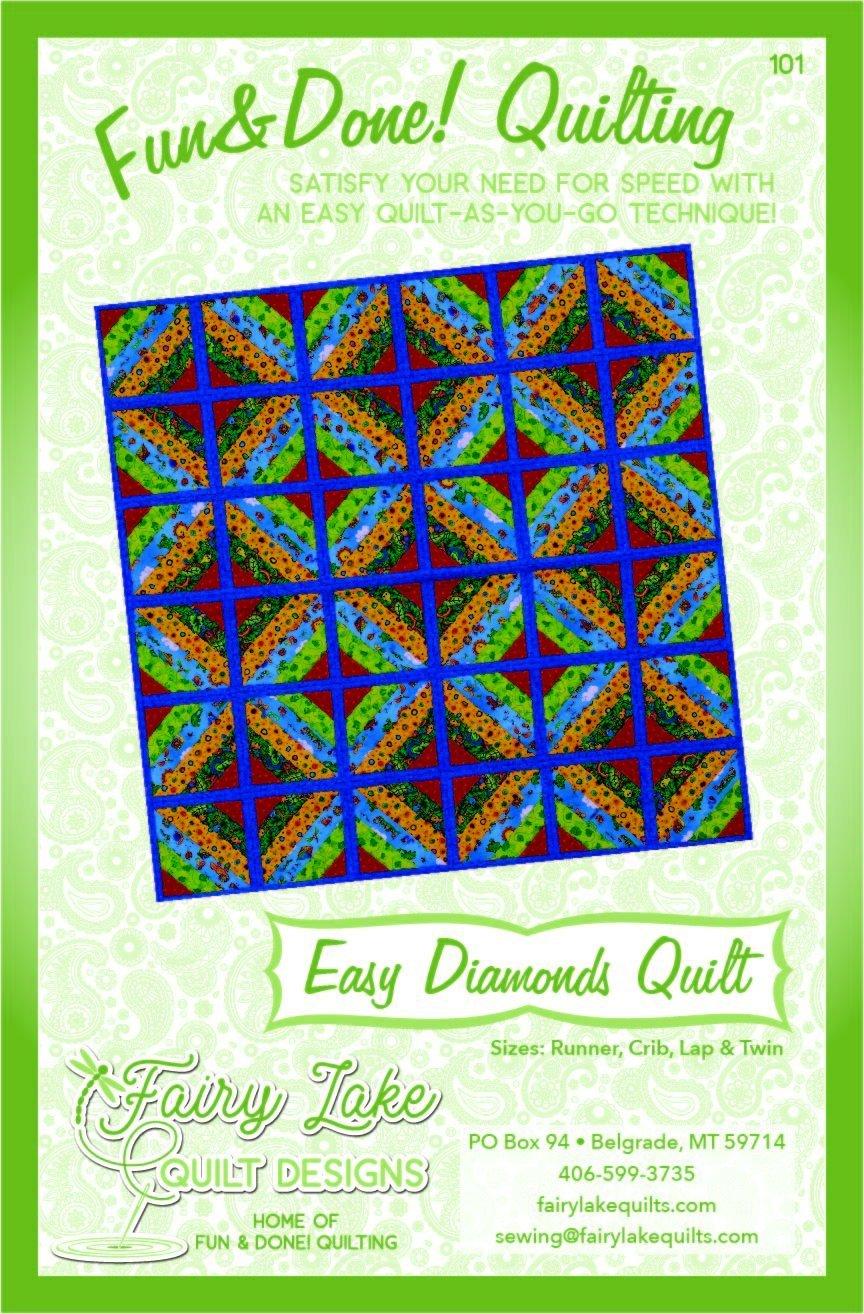 FUN & DONE EASY DIAMONDS QUILT PATTERN - FLQD101