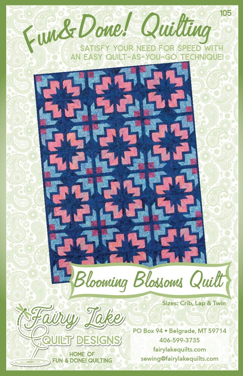 FUN & DONE Blooming Blossoms Quilt Pattern - FLQD105