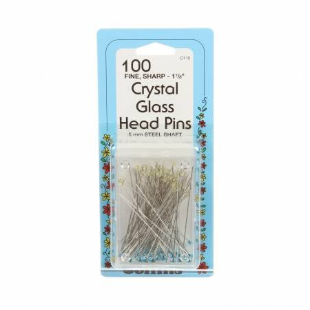 COLLINS CRYSTAL 1 7/8 GLASS HEAD PINS