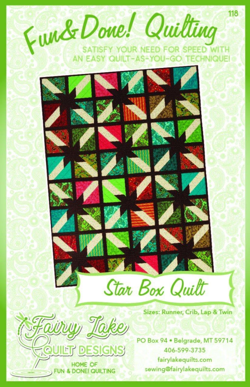 FUN & DONE STAR BOX QUILT PATTERN - FLQD118
