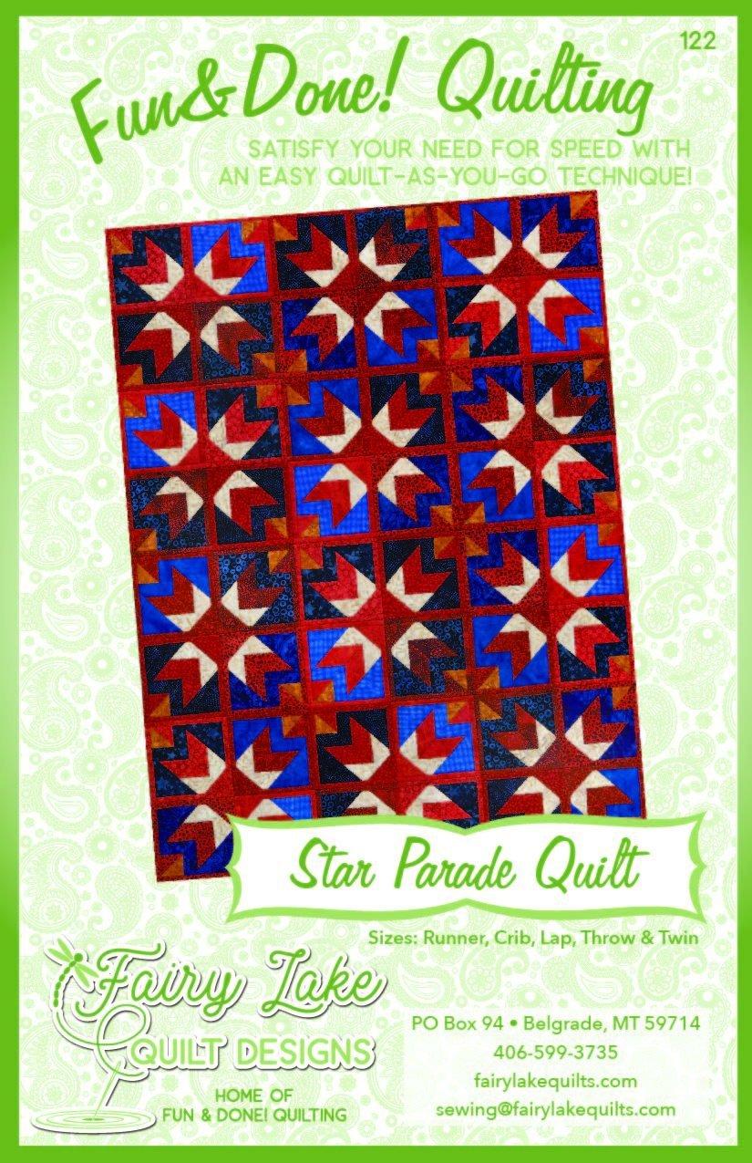 FUN & DONE STAR PARADE QUILT PATTERN - FLQD122