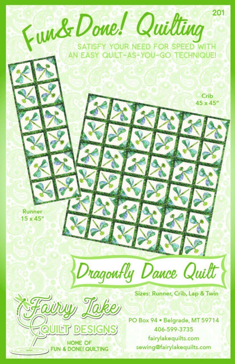 DRAGONFLY DANCE LAP SIZE QUILT KIT