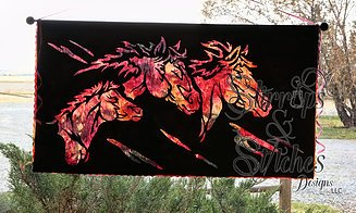 STIRRUPS & STITCHES Wild Horses Laser Cut