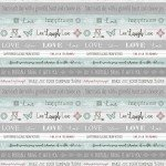 CONTEMPO WORDS TO LIVE BY WORD STRIPE 7703B-84
