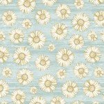 CONTEMPO WORDS TO LIVE BY TURQUOISE DAISY 7706B-84