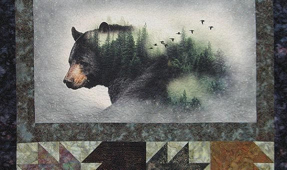 BEARS AND PAWS QUILT KIT 55X52