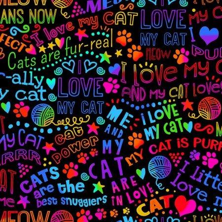 TIMELESS I LOVE MY CAT RAINBOW GAIL-C7038 BRIGHT