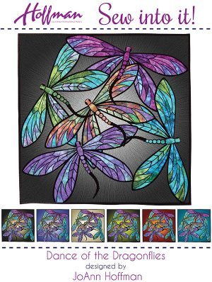HOFFMAN DANCE OF THE DRAGONFLY QUILT KIT 40X40