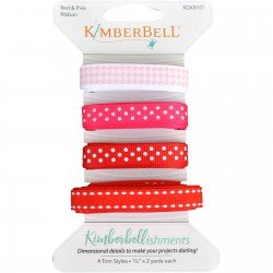 KIMBERBELL RIBBON PACK RED & PINK KDKB101