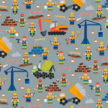 TIMELESS LEGO CONSTUCTION WORKERS Kidz-C6113-Grey