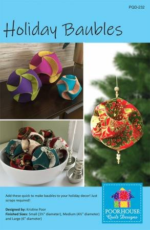 POOR HOUSE QUILT DESIGNS Holiday Baubles PQD-232