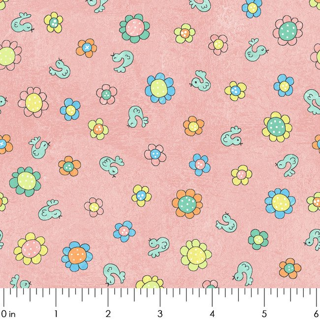 MIDWEST La La Llama Birds & Flowers Rose (Pink)