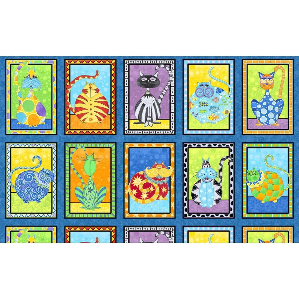 Wilmington Prints Catmosphere panel