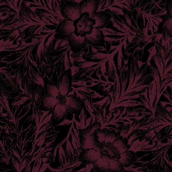 Jinny Beyer's Coraline Collection -- Floral Burgundy