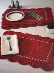 Foam Scalloped Placemats