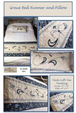Grace bed runner and pillow