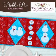 Pickle Pie Snow Date Embroidered Quilt Event