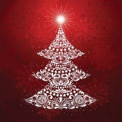 Gradient Ruby Christmas Tree