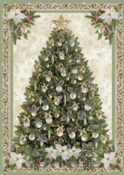 Christmas tree Pincone Ponsettia Panel