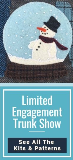 Limited Time Engagement Trunk Show Click To See All the Patterns and Kits.  Showing the snow globe up close