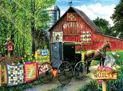Amish quilt jigsaw puzzles