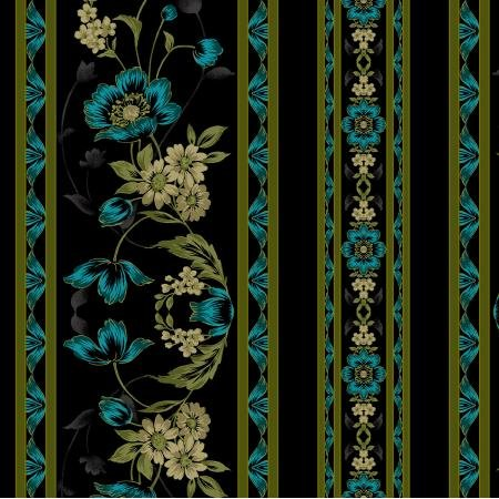 Jinny Beyer's Midnight Garden Collection - Borders