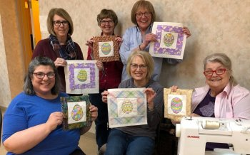 Easter Egg Painting Class at Twin City Quilters