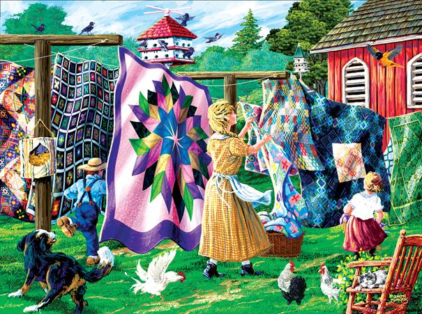 Quilter's Clothesline - 1,000 Pieces