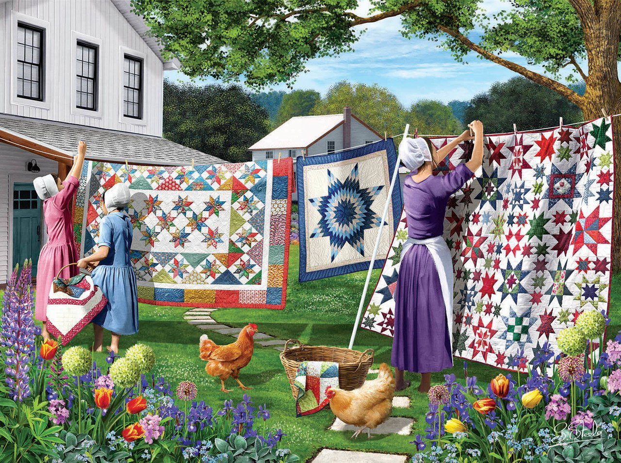 Quilts in the Backyard Puzzle (500 pieces)