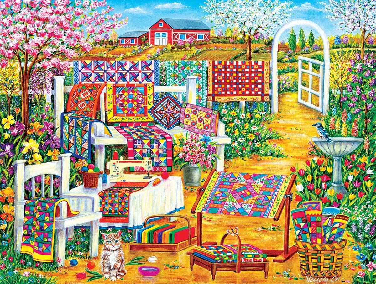 Garden Quilt Puzzle (500 Pieces)