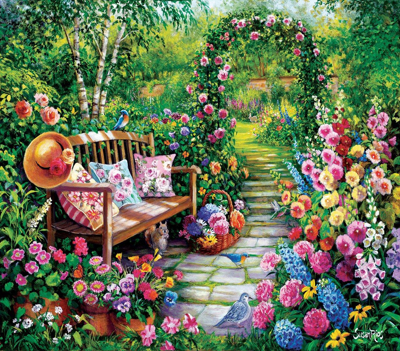 Kim's Garden - 1,000 Piece Puzzle