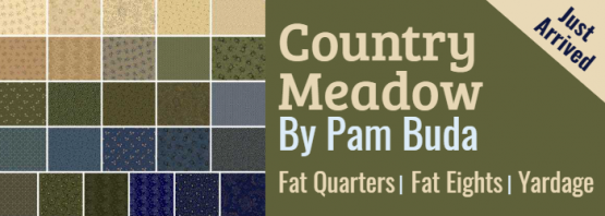 Country Meadow by Pam Buda Just Arrived Fat Quarters Fat Eights Yardage