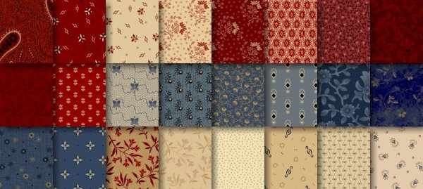 Bess' Flower Garden Fabric