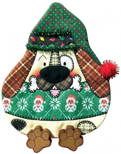 Brown Puppy Ugly Sweater Airmail Ornament Kit