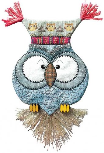 Tinsel Owl Ugly Sweater Airmail Ornament Kit