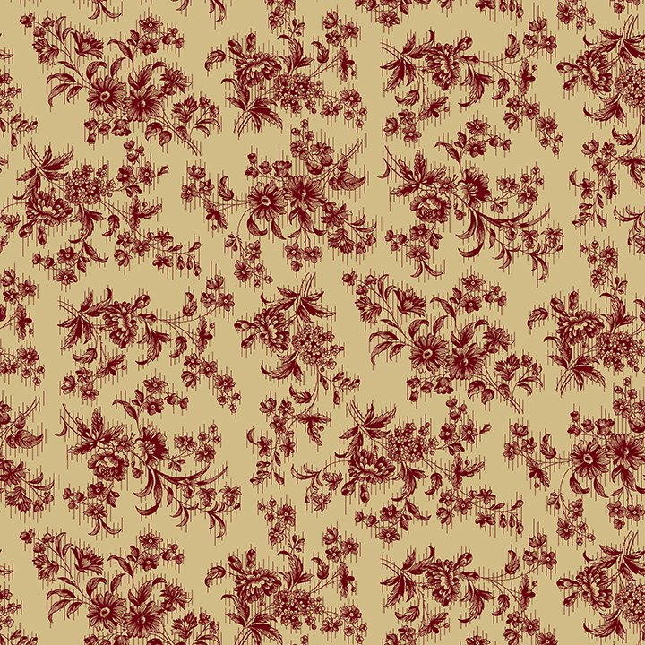 Red Delicate Floral Farmhouse Christmas