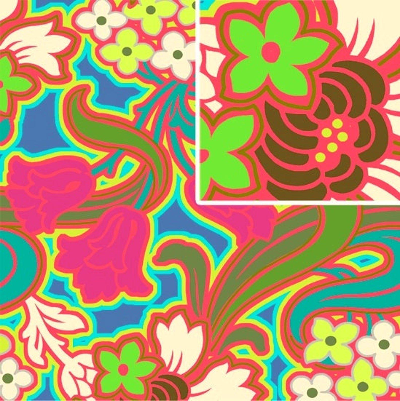 Disco Flower Hot Pink